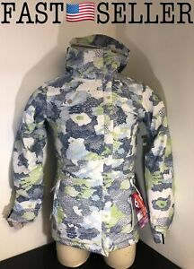 NEW 686 Acc Empire Insulated Ski Snowboard Jacket Sky Print Womens Size S
