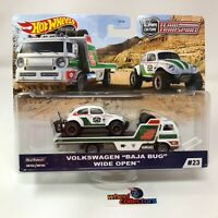 Volkswagen Baja Bug & Open Wide * 2020 Hot Wheels Team Transport Case J