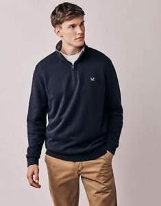 Crew Mens Classic 1/2 Zip Navy Sweatshirt Size XXL