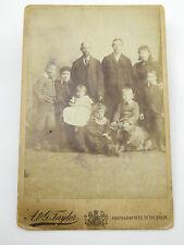 Large 1800s Victorian Family Portrait Cabinet Card Photograph A&G Taylor London