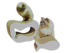 Katzen Kratzmöbel 2 in1 aus Wellpappe 41x29x20cm Katzenbett Kratzmöbel Kratzbaum