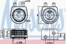 NISSENS Engine Oil Oil Cooler 90774 Fits OPEL