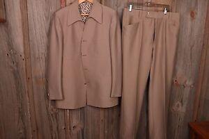 Phoenix 44L Suit Jacket Coat Pants 36 x 32 Four Button VTG