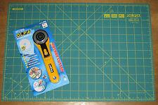 "Olfa cortador rotatorio rty-2 / G & Cutting Mat rm-ic-c 12 ""x 18 pulgadas Tela Cuero Papel"