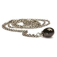 AUTHENTIC TROLLBEAD STERLING SILVER NECKLACE FANTASY BLACK ONYX
