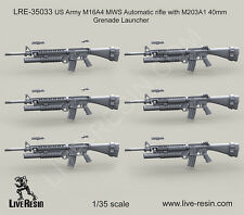 Live Resin 1/35 LRE-35033 US Army M16A4 with M203A1 40mm Grenade Launcher