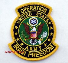 OPERATION IRAQI FREEDOM PATCH US ARMY USA MILITARY MIDDLE EAST IRAQ GIFT VETERAN
