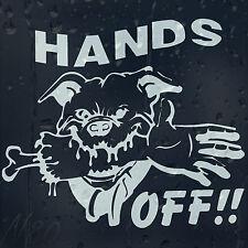 Dog Hands OFF Funny Car Window Windscreen Body Panel Laptop Decal Vinyl Sticker