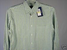 Izod LS Shirt Green White Heather Blue M Mens New