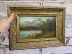 really old PAINTING oil landscape
