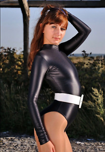 Damen Glanz Lycra Gymnastikanzug Body  XL  Polyamid Spandex