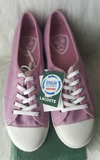 Lacoste Ziane Purple tennis shoes~Ortholite Soles, Size 7 New in Box