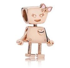 Bella Bot Charm Bead Rose Gold Plated with Pink Bow - NEW
