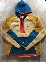 Mens Nike Sportswear NSW Half Zip Winter Jacket Sherpa BV3766-723 Sz XL