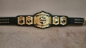 TNA World Tag Team Wrestling Championship Leather Belt Replica Adult Size