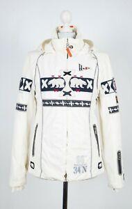 Bogner Ski Jacket White Winter Puffer Arctic Polar Bear Skiing Coat Women's S