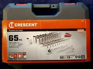 Crescent 65pc Professional Socket Tool Set - SAE & Metric - NEW w/ FREE US Ship!