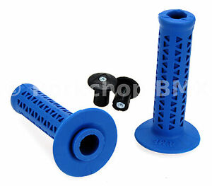 AME old school BMX Unitron 702 single ply bicycle grips BLUE *MADE IN USA* NEW