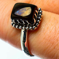 Black Onyx 925 Sterling Silver Ring Size 8.5 Ana Co Jewelry R25241F