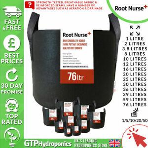 Root Nurse Fabric Pots 1/2/3.8/8/10/12/16/20/25/30/36/59/76 Litre Cloth Grow Bag