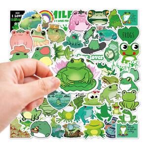 50*Interesting Frog Graffiti Stickers For Skateboard Helmet Anime Cute Frog ToBK