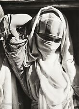 1934 Vintage 11x14 AFRICA ~ Morocco Young Woman Veil Djellaba Fashion Photo Art