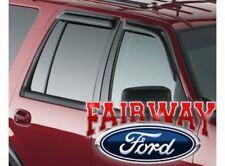 05 thru 17 Expedition OEM Ford Smoke Side Window Deflector Rain Guard Kit 4-pc