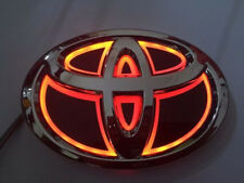 5D LED Car Logo Red Light for Toyota New Yaris 08 Camrys Hiace Auto Badge Light
