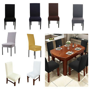 Spandex Dining Room Short Chair Covers Slipcover Wedding Home Decoration