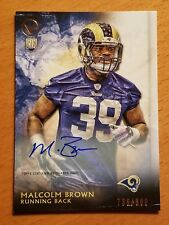 2015 Topps Valor Rookie Auto #104 Malcolm Brown LA Rams RB #'d 736/800