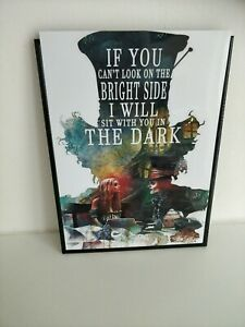 ALICE IN WONDERLAND A3 PRINT MAD HATTER ADVENTURE  QUOTE WALL ART  HOME PICTURE
