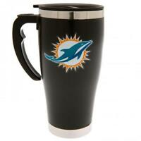 Miami Dolphins NFL American Football Black Executive Travel Coffee Thermal Mug