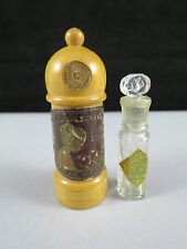 1920's Miniature Dralle Illusion Perfume Scent Bottle In Treen Lighthouse Holder