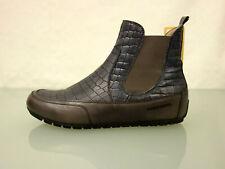 CANDICE COOPER Leder Stiefelette Gr.39,5 Schuhe Boots Reptilprint Blaugrau Braum