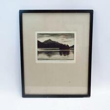 "Robert Houston ""Summer Evening"" Loch Lomond Original Signed Etching in Frame"