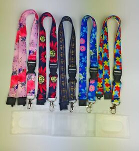 Spirius Lanyard Neck Strap with Clear Plastic Horizontal ID Card Badge Holder