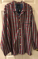 Polo Ralph Lauren Sleep Shirt Pajama Top Only Men's XL TG Plaid Button Up NWT