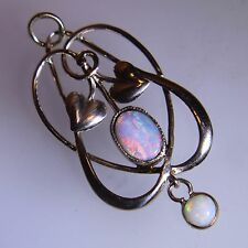 Edwardian Murrle Bennett Opal 9ct Rose Gold Pendant