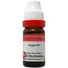 3 X Dr. Reckeweg Sepia 30 CH Dilution (11ml) Homeopathy ( PACK OF 3 )
