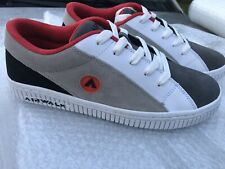 New listing Airwalk One Suede Mens Red Gray White Skate Sneakers Shoes 11 90s