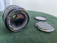 Vintage Canon FD 50mm F1.4 Manual Lens Works Great Condition
