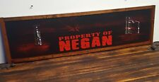 "Negan ""Lucille"" bat Wall Plaque ~Property of NEGAN~Made-Custom-For-You"