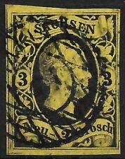SACHSEN 1851...MiNr. 6 ...3 Ngr...aktueller BPP Befund...Trennmarkierung!