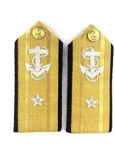 USN DRESS WHITE  UNIFORM - 1 STAR ADMIRAL SHOULDER HARD BOARDS