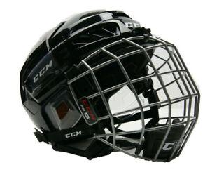 CCM FL3DS Hockey Helmet Combo Black Junior (Ages 7-11) HTFJRC