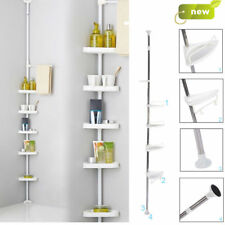 NON RUST BATHROOM TELESCOPIC CORNER SHELF STORAGE 4 TIER SHOWER CADDY ORGANISER
