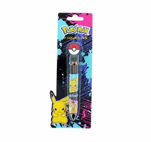 Pokemon 10 Colour Pen, Stationery, back to school pikachu - gotta catch them all