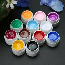 12 Colors / Set 3D Nail Art Paint Draw Painting Acrylic UV Gel Tip Manicure DIY