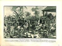 Peuples Indigènes de l'Empire Colonial Français La Réunion MAP CARTE ATLAS 1937