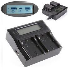 LCD Dual Battery Charger Akkuladegerät für Canon LP-E6 7D 6D 5D II III 5Ds R 70D